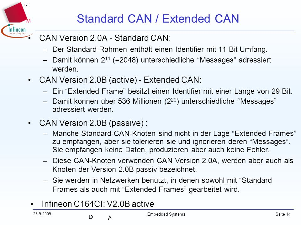 Standard CAN / Extended CAN