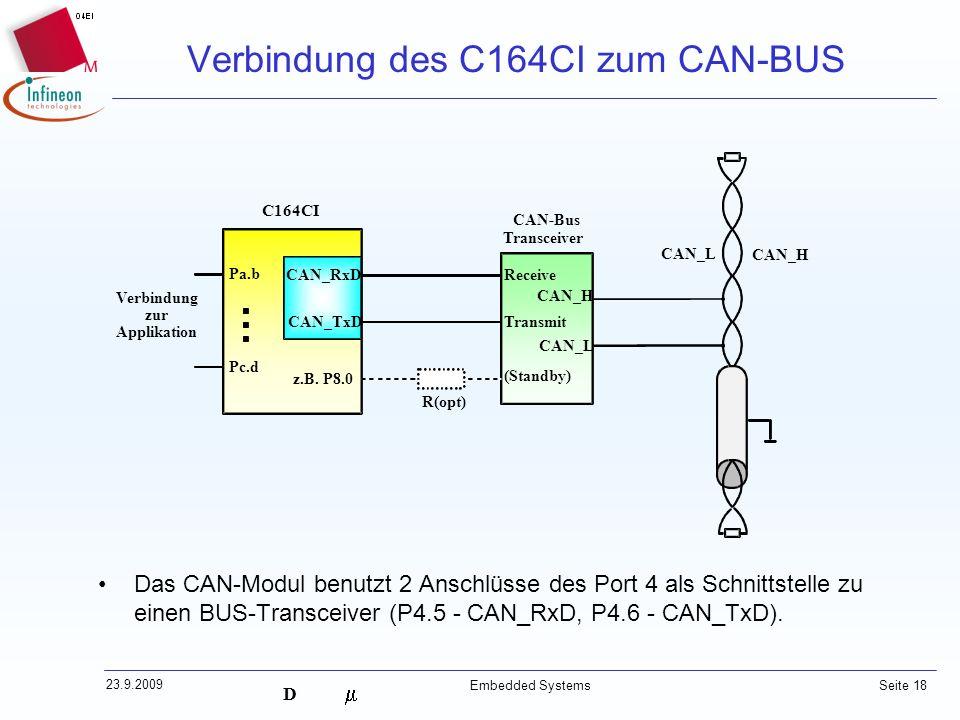 Verbindung des C164CI zum CAN-BUS