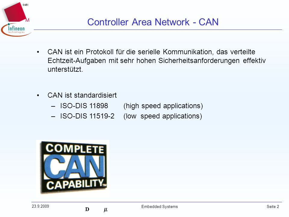 Controller Area Network - CAN