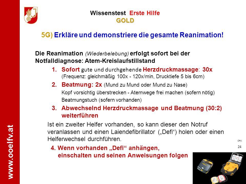 5G) Erkläre und demonstriere die gesamte Reanimation!