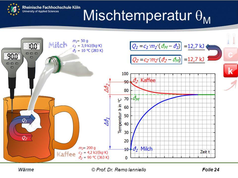 Mischtemperatur M c k Wärme © Prof. Dr. Remo Ianniello