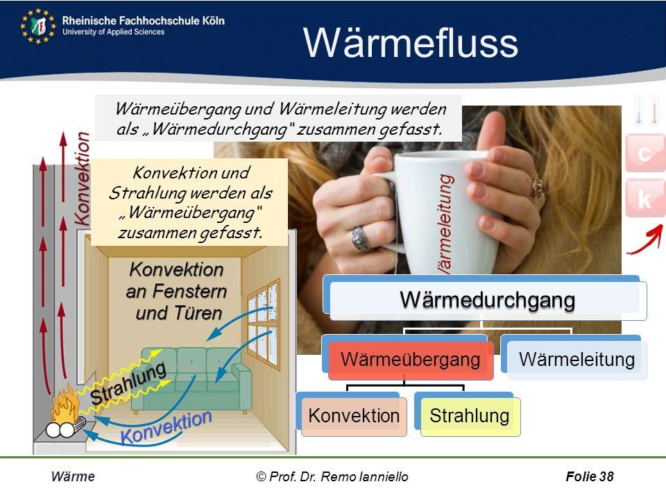 Wärmefluss c k Wärmedurchgang