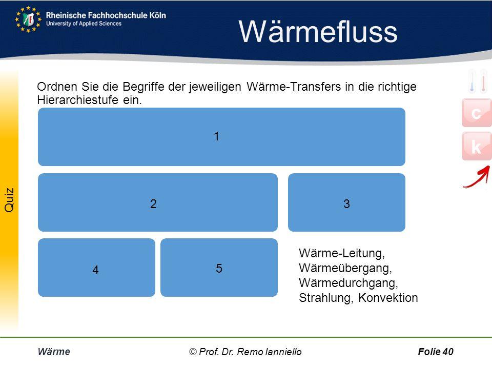Wärmefluss Ordnen Sie die Begriffe der jeweiligen Wärme-Transfers in die richtige Hierarchiestufe ein.