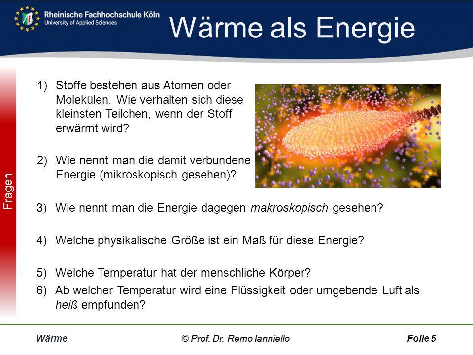 Wärme als Energie