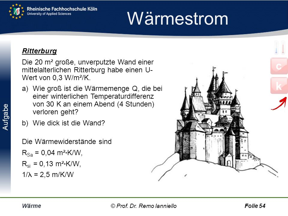 Wärmestrom c k Ritterburg