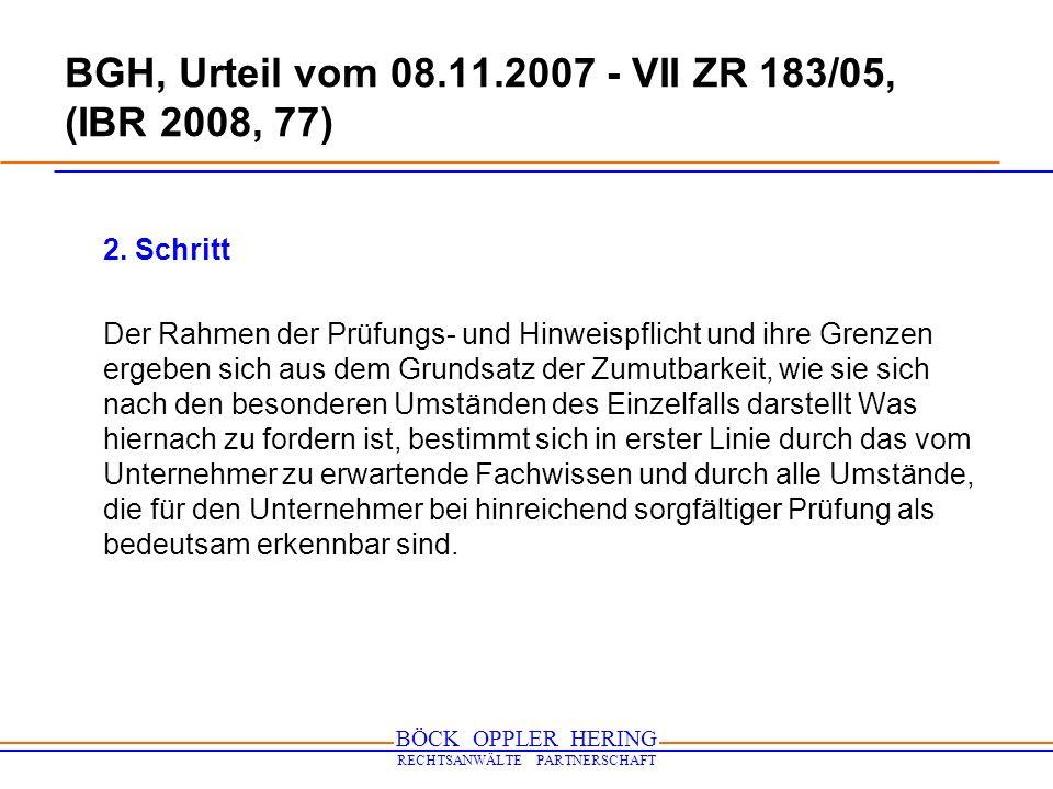 BGH, Urteil vom 08.11.2007 - VII ZR 183/05, (IBR 2008, 77)