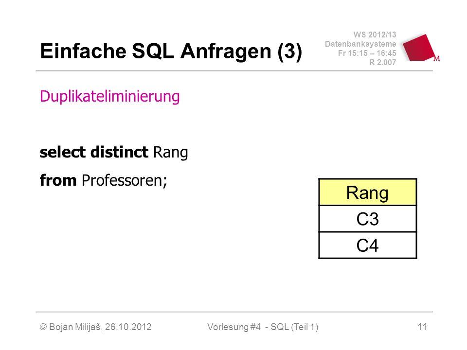 Einfache SQL Anfragen (3)