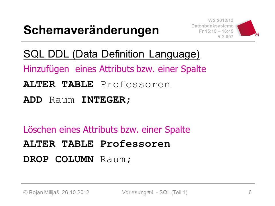 Vorlesung #4 - SQL (Teil 1)