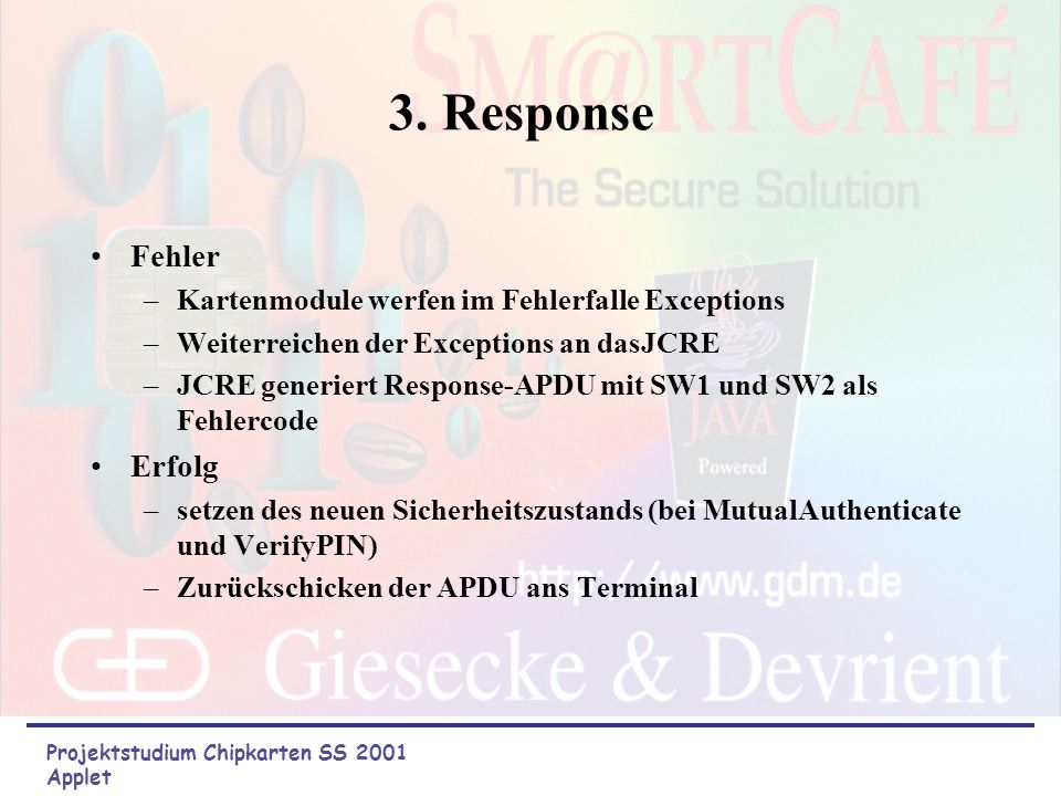 3. Response Fehler Erfolg