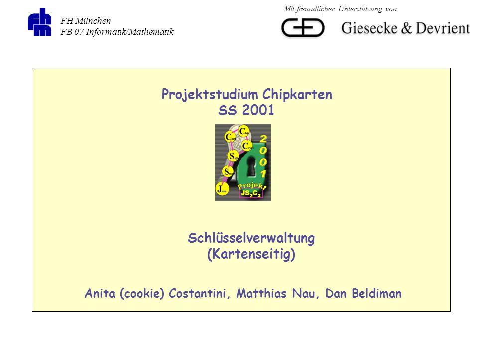 Projektstudium Chipkarten SS 2001 Schlüsselverwaltung (Kartenseitig)