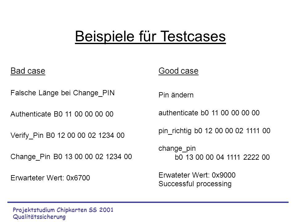 Beispiele für Testcases