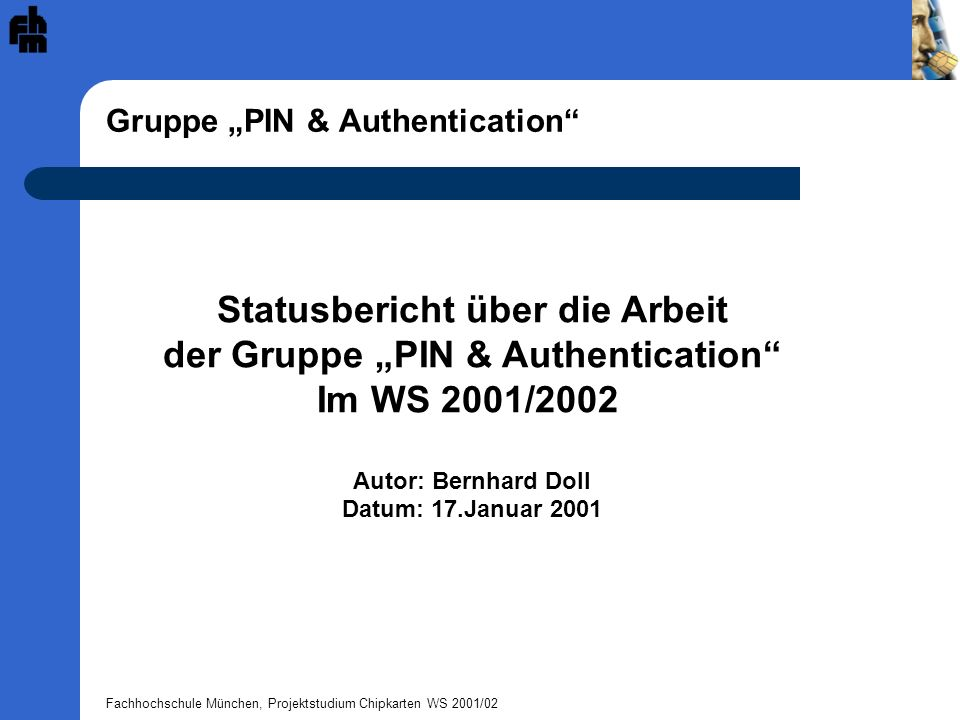 "Gruppe ""PIN & Authentication"