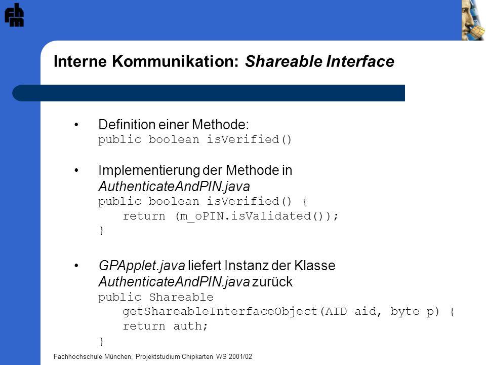 Interne Kommunikation: Shareable Interface