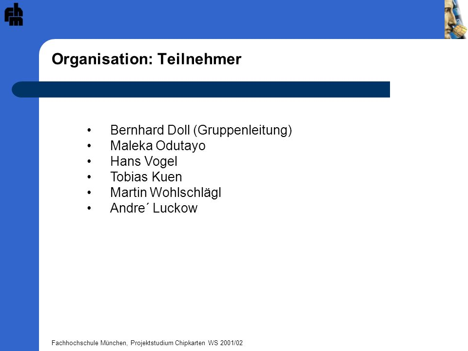 Organisation: Teilnehmer