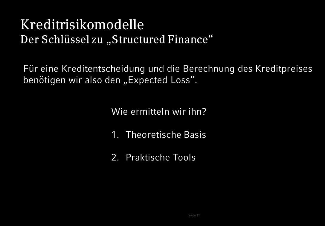 """Kreditrisikomodelle Der Schlüssel zu """"Structured Finance"""