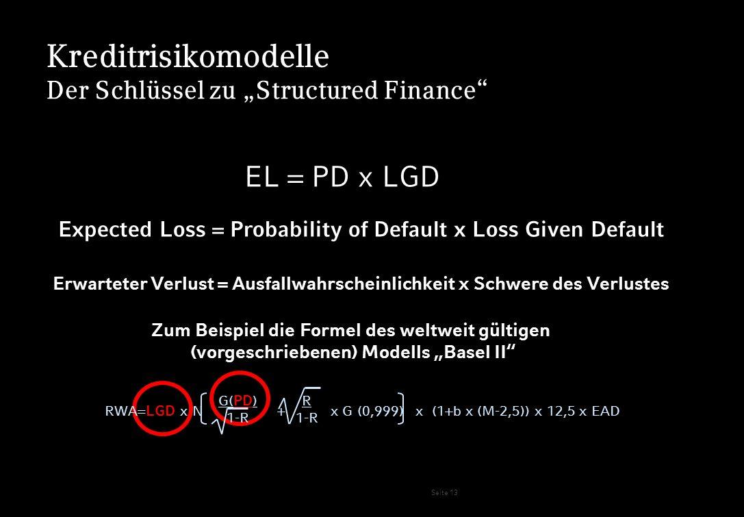 Kreditrisikomodelle EL = PD x LGD