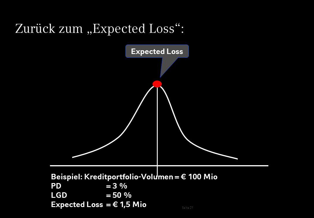 """Zurück zum """"Expected Loss :"""
