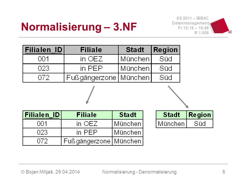 Normalisierung - Denormalisierung
