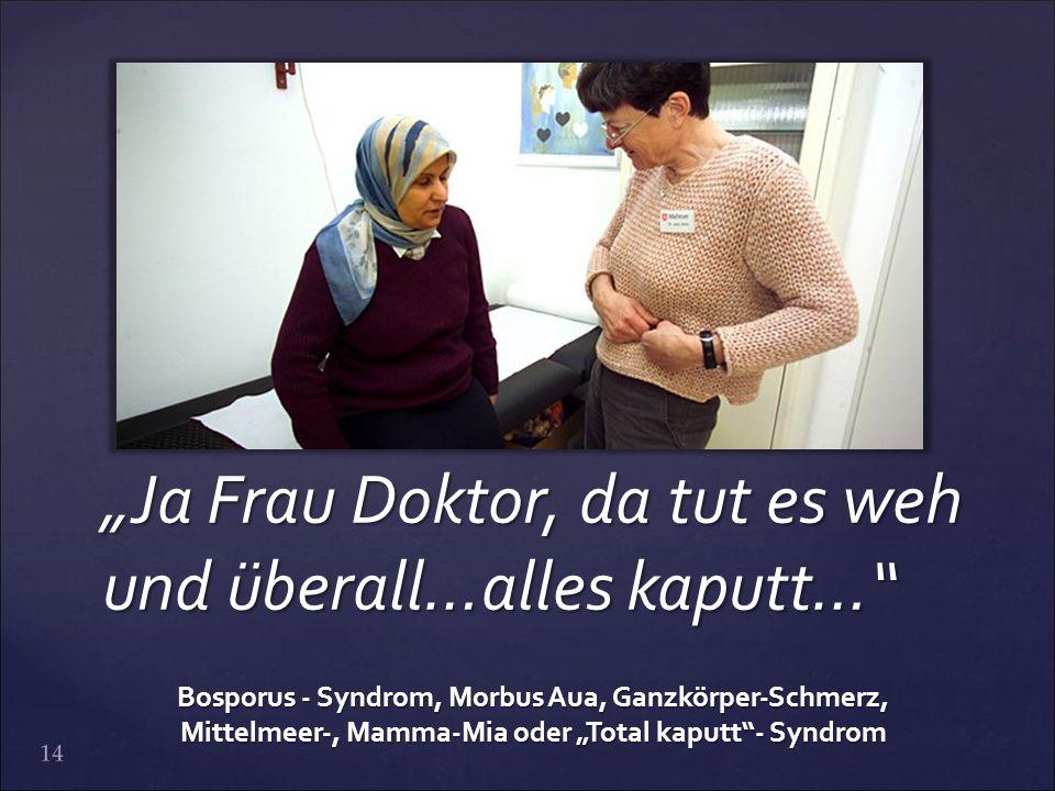 """Ja Frau Doktor, da tut es weh und überall…alles kaputt…"