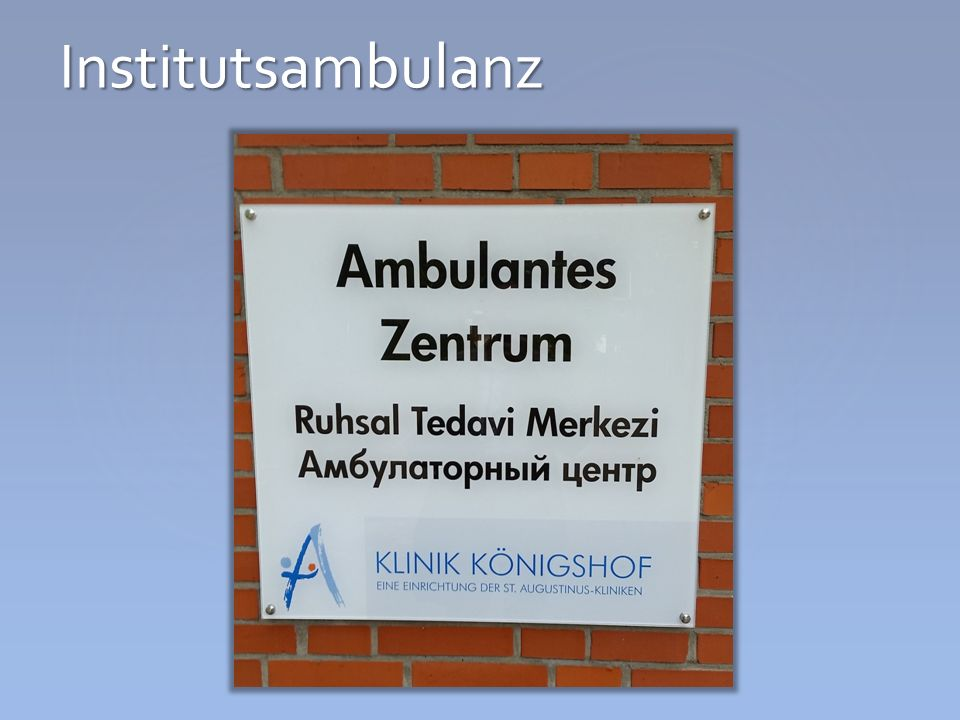 Institutsambulanz