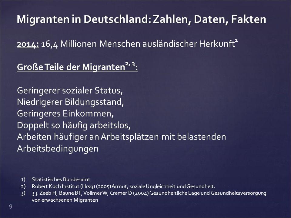 Migranten in Deutschland: Zahlen, Daten, Fakten