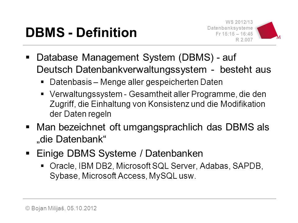 DBMS - Definition Database Management System (DBMS) - auf Deutsch Datenbankverwaltungssystem - besteht aus.