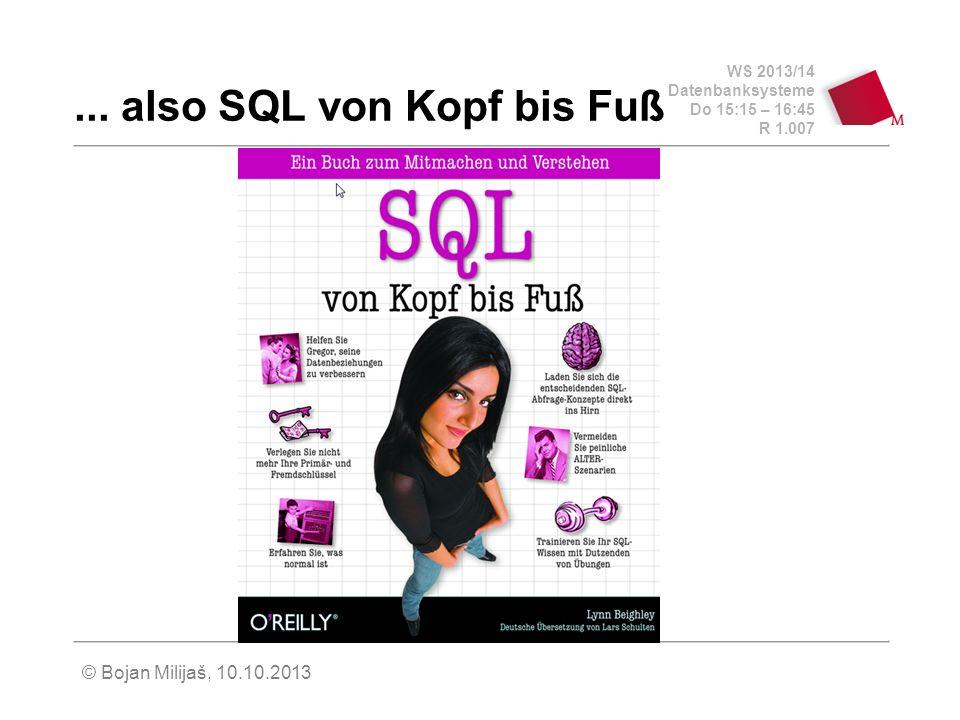 ... also SQL von Kopf bis Fuß