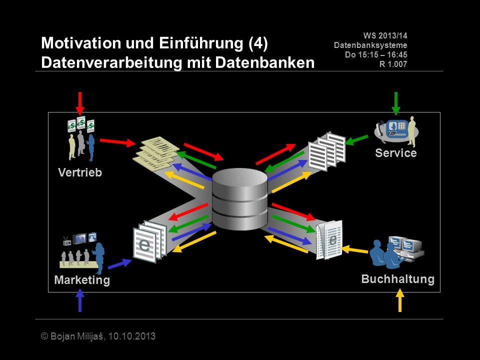 Motivation und Einführung (4) Datenverarbeitung mit Datenbanken