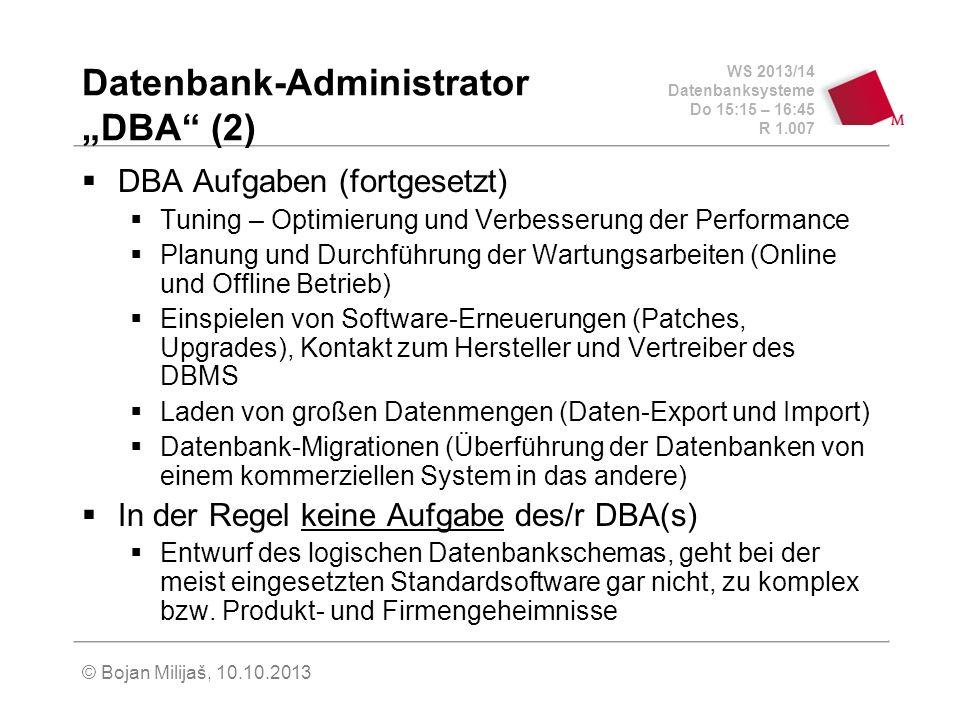 "Datenbank-Administrator ""DBA (2)"