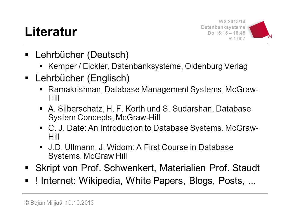 Literatur Lehrbücher (Deutsch) Lehrbücher (Englisch)