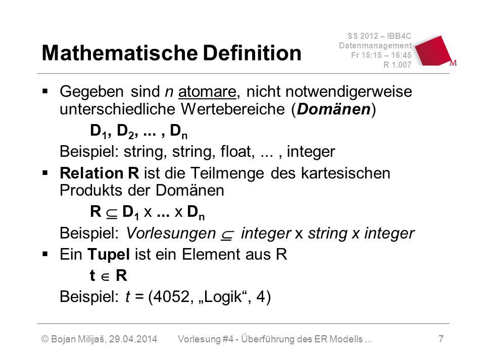 Mathematische Definition