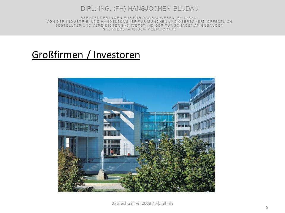 Großfirmen / Investoren