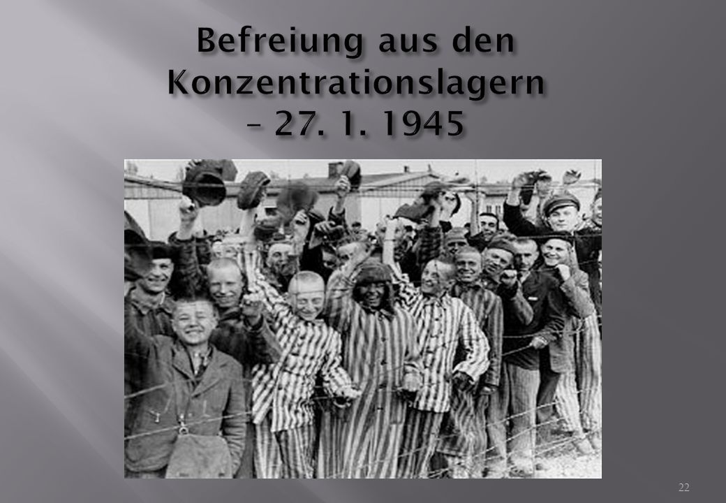 Befreiung aus den Konzentrationslagern – 27. 1. 1945