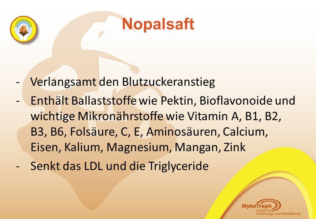 Nopalsaft - Verlangsamt den Blutzuckeranstieg