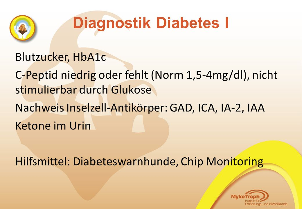 Diagnostik Diabetes I Blutzucker, HbA1c