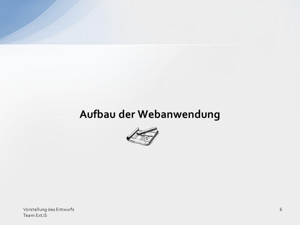 Aufbau der Webanwendung