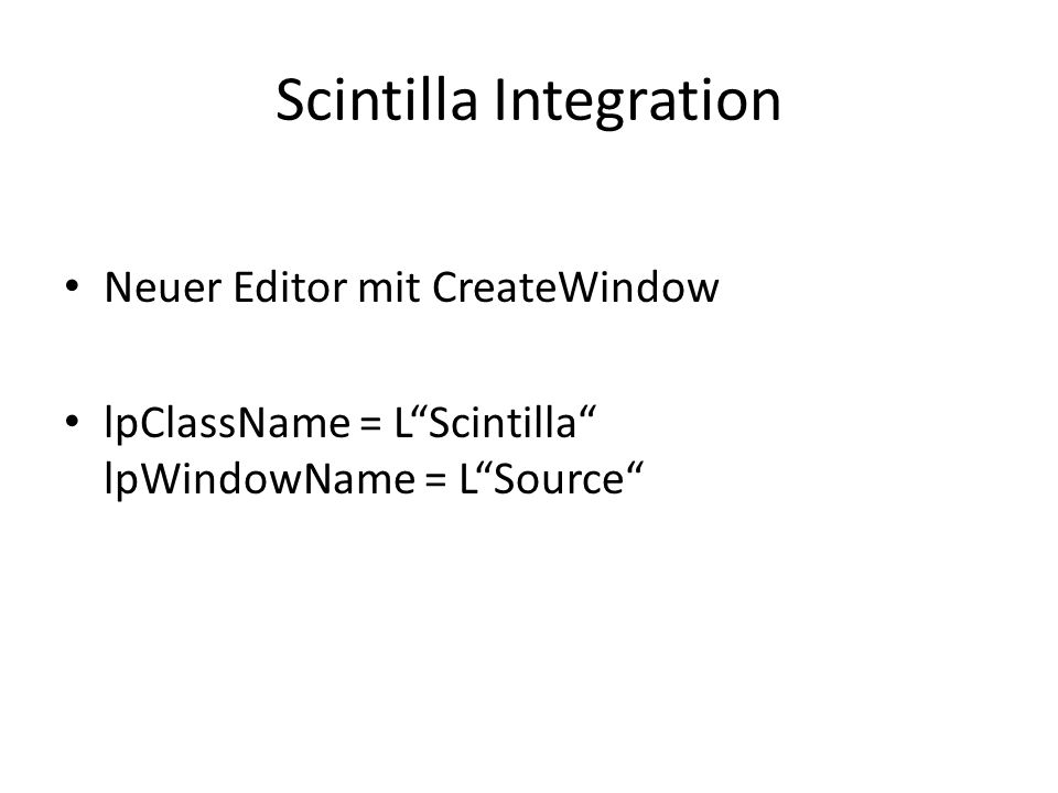 Scintilla Integration