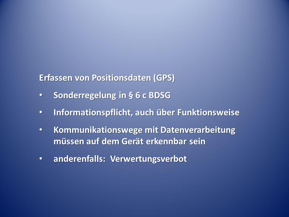 Erfassen von Positionsdaten (GPS)