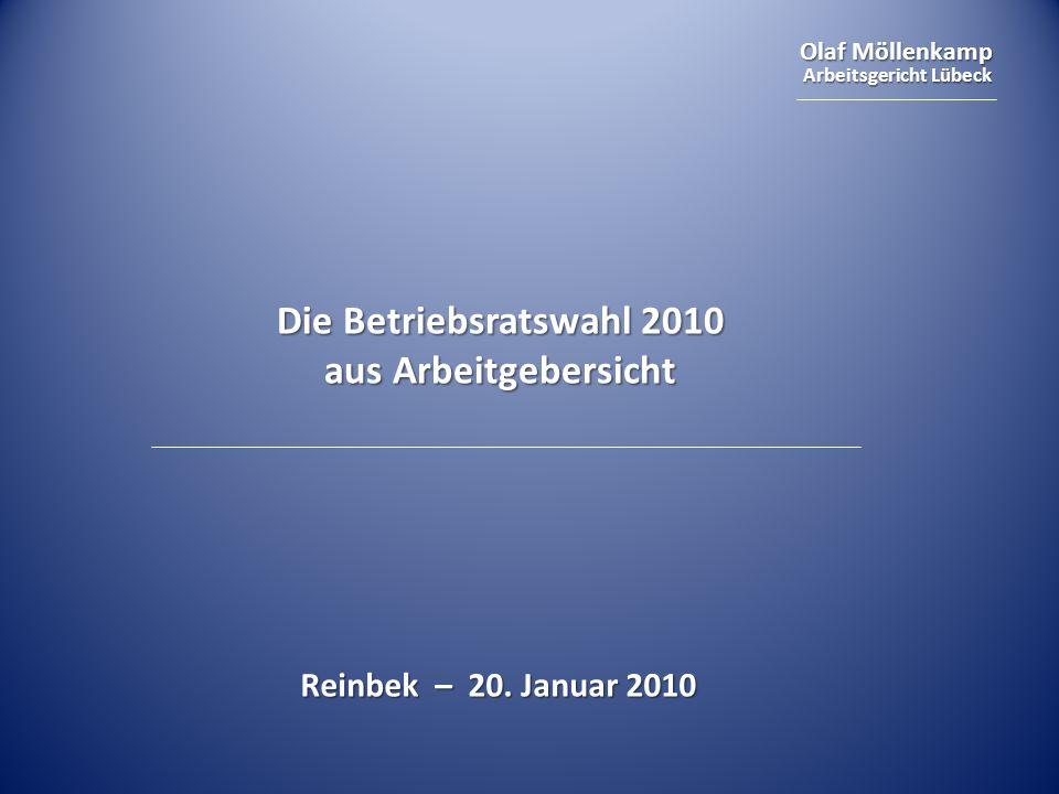 Die Betriebsratswahl 2010 aus Arbeitgebersicht