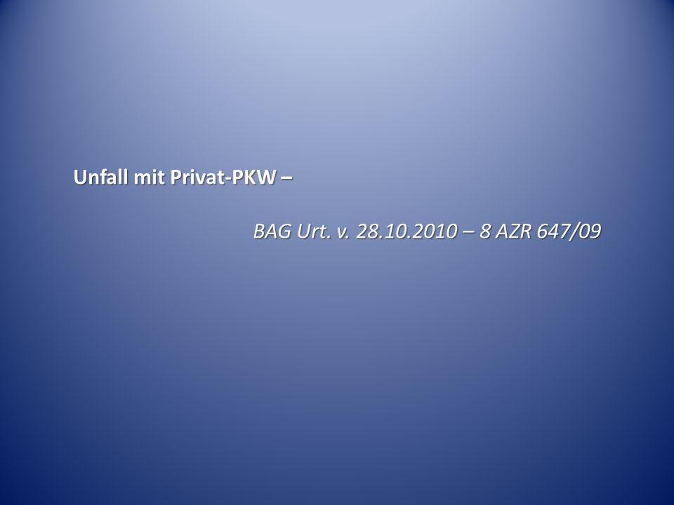 Unfall mit Privat-PKW –