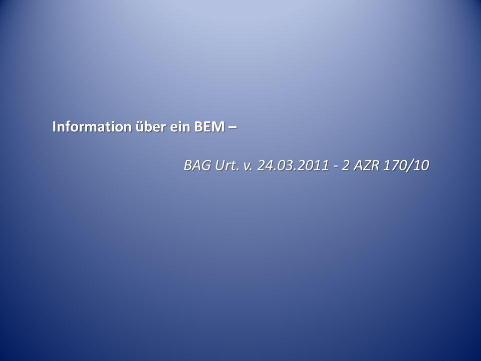 Information über ein BEM –