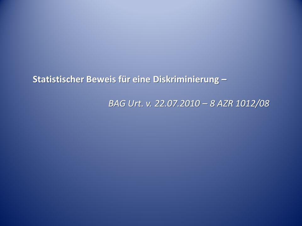 Statistischer Beweis für eine Diskriminierung –