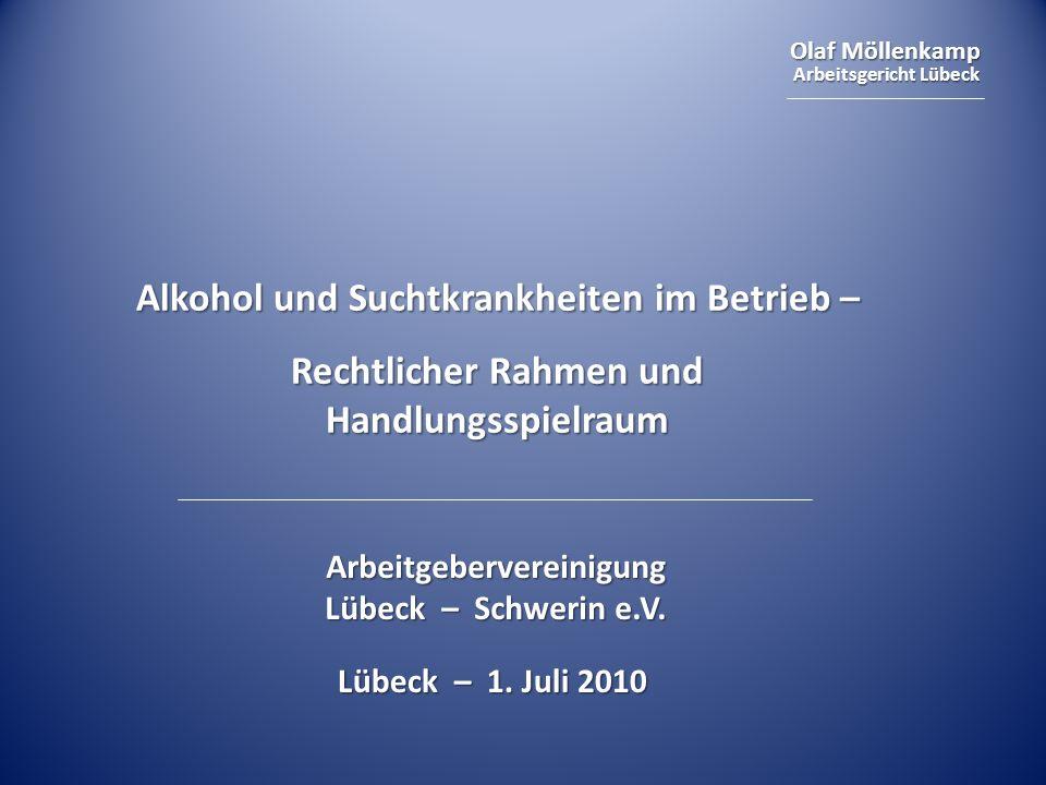 Alkohol und Suchtkrankheiten im Betrieb –