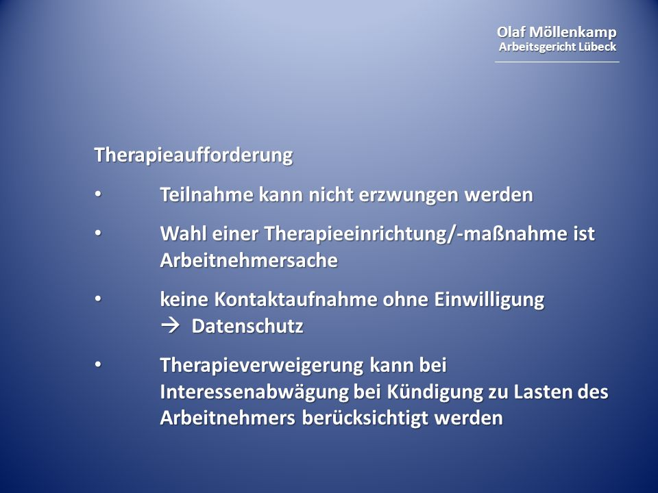 Therapieaufforderung