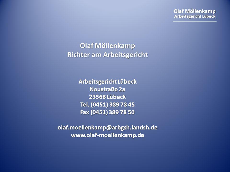 Richter am Arbeitsgericht Arbeitsgericht Lübeck