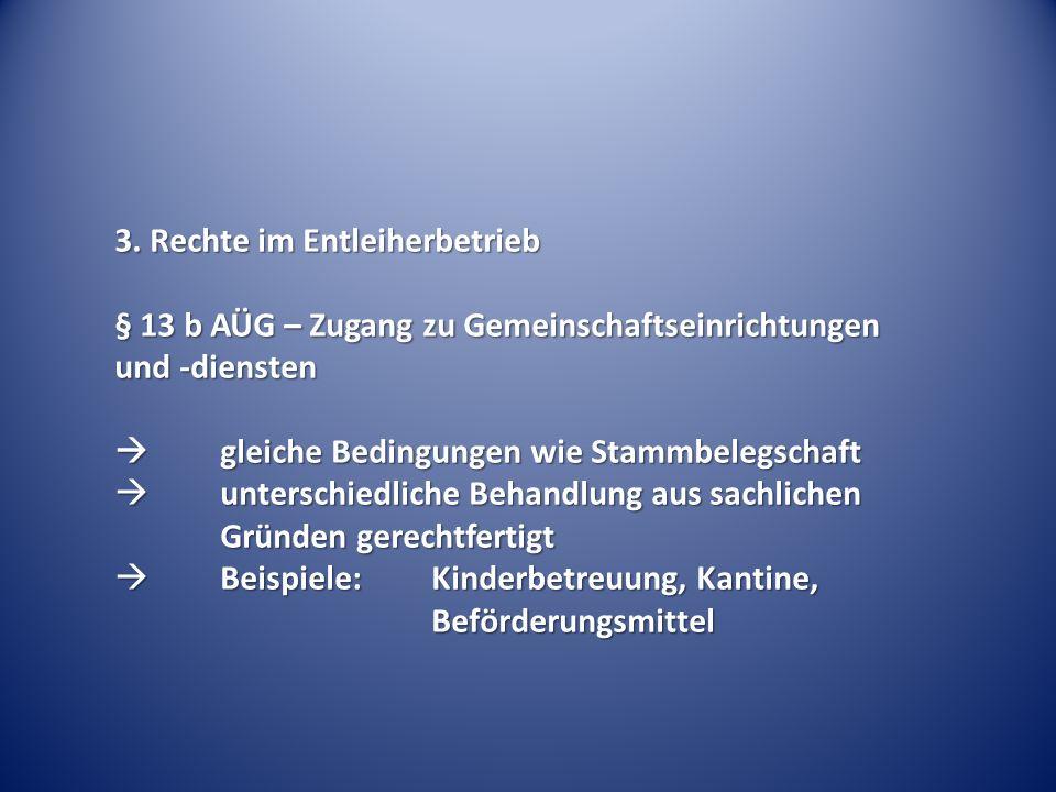 3. Rechte im Entleiherbetrieb