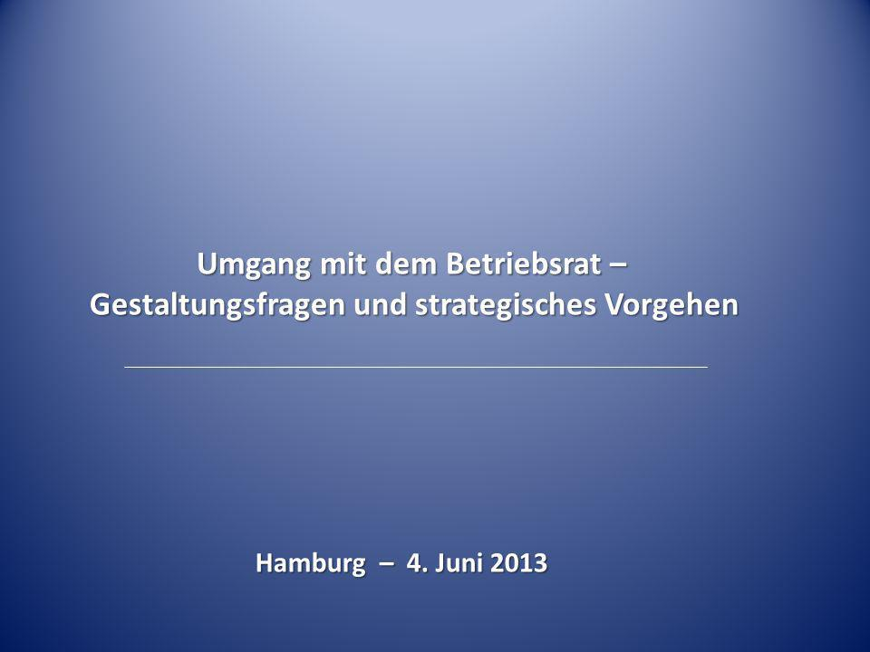 Umgang mit dem Betriebsrat – Gestaltungsfragen und strategisches Vorgehen