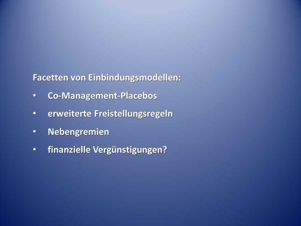 Facetten von Einbindungsmodellen: