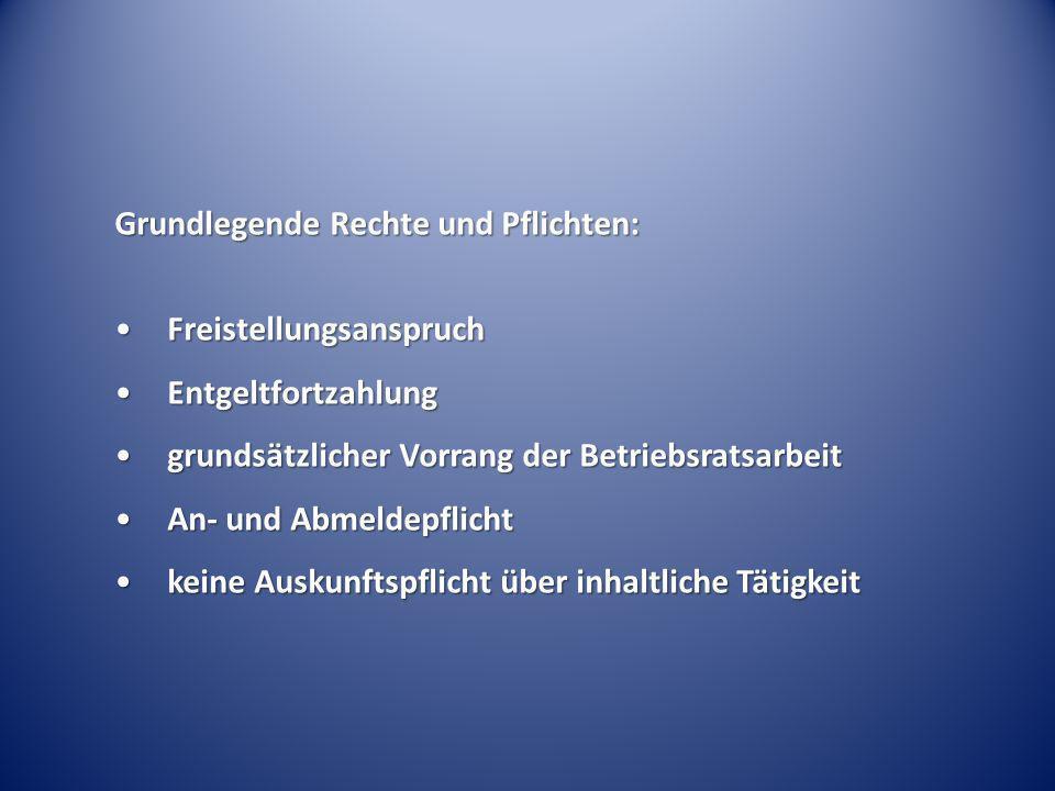 Grundlegende Rechte und Pflichten: