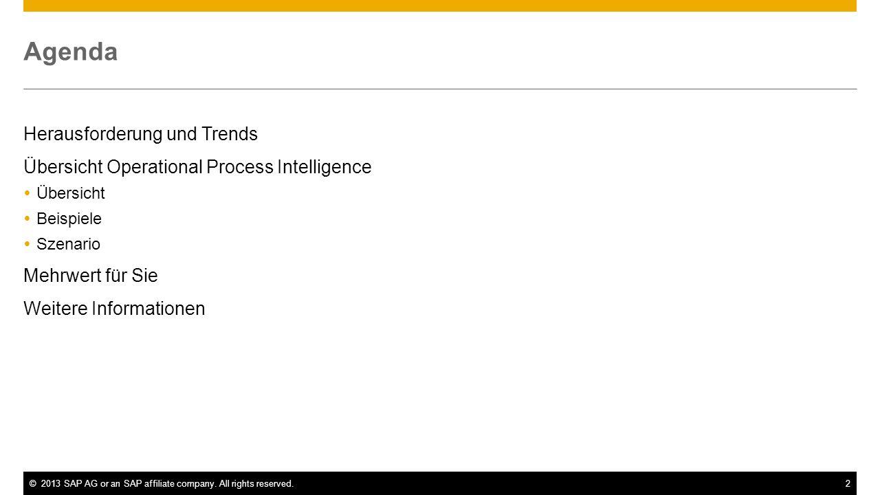 Agenda Herausforderung und Trends